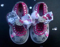 Hello Kitty Glitter Rhinestone Glam Baby by PinkToesAndHairBows, $50.00
