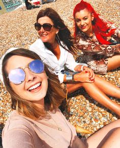 Sunny beach chats with two of my favourite ladies & an ice cream (which as you can see, I did not manage to finish, those massive cones…