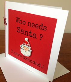 Christmas Card for Grandparents www.facebook.com/Funkyjunk.Upcycled.UK