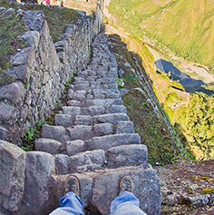 Watch your step as you climb these stairs, whether spiraling up mountains, narrow passageways, or...