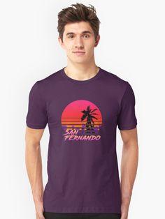 Retro Design - San Fernando' T-Shirt by manfex Retro Design, Chiffon Tops, Classic T Shirts, San, Mens Tops, Stuff To Buy, Collection, Fashion, Moda