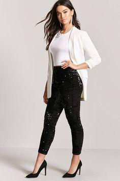 Sequin High-Waist Pants