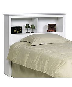 Winslow White Twin Bookcase Headboard | Overstock.com Shopping - Big Discounts on Headboards
