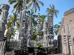 pu'uhonua, the place of refuge for defeated warriers and those who had violated the kapu, or sacred laws