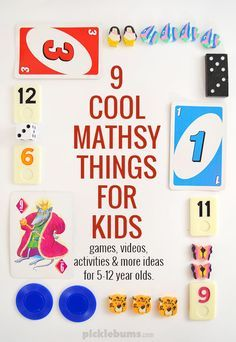 9 cool mathsy things for kids! - Videos, games, activities and more math ideas for 5-12 year olds