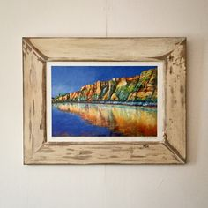 Another reclaimed wood frame, the finish referencing the look of drift wood, this time for this N J Davies giclee print. The intensity of the colours in this picture is incredible.