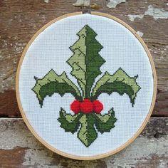 Happy Hollydays Fleur De Lis - click here for more details about chart