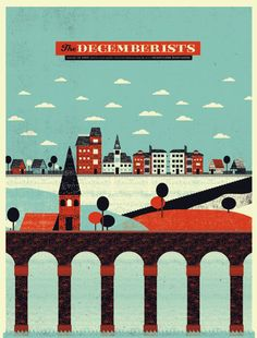 The Decemberists  designed by The Silent Giants.