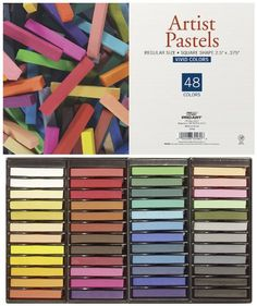 Pro Art Square Artist Pastel Set, 48 Assorted Colors