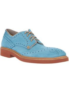 Aquamarine leather brogues