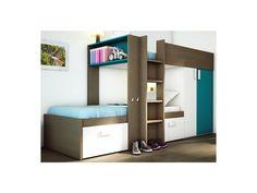 Hochbett Etagenbett Julien : Kinderbett hochbett etagenbett julien cm taupe und blau