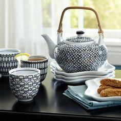 Black & White Teapot Set