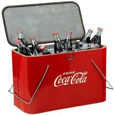 Original 'Coca Cola' picnic cooler at 1stdibs ❤ liked on Polyvore