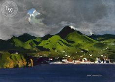 Martinique Harbor, 1978, art by Hardie Gramatky – California Watercolor