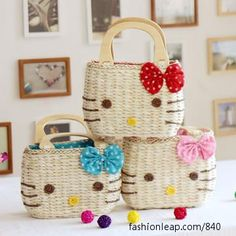 Hello kitty woven bag