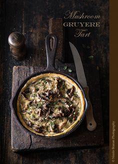 Mushroom Gruyere Tart @FoodBlogs