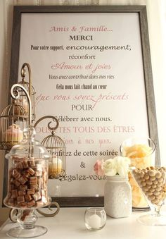 Candy bar, candy buffet, sweet table, shabby chic