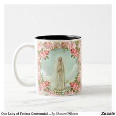Our Lady of Fatima Centennial Anniversary Two-Tone Coffee Mug #fatima #catholic #traditionalcatholic #catholicgifts #blessed