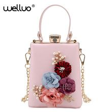 New Women Black Envelope Evening Clutch Bags Ladies Day Clutches Female  Wedding Bag Colorful Flowers Party 9e2508c5f242