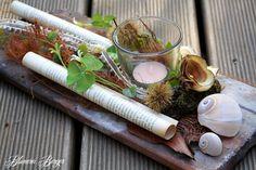 """:::: Tischdeko Dachziegel  """"Papierrollen"""" :::: von :::::::: Blumerei Berger :::::::: auf DaWanda.com"""
