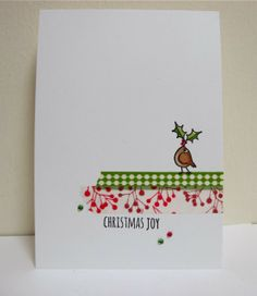 Clean & Simple #Washi Tape Christmas Card