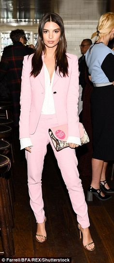 Pretty in pastel: Jourdan Dunn (L) and Emily Ratajkowski (R) joined forces as they led a rather glamorous crowd at Diane von Furstenberg's New York Fashion Week dinner on Sunday night