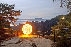 Magical moments in the saxon switzerland (Germany)