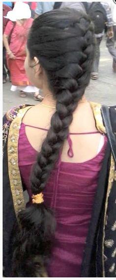 Indian Hairstyles, Braided Hairstyles, Indian Long Hair Braid, Tamil Girls, Beautiful Girl Image, Braids For Long Hair, Plaits, French Braid, Hair Beauty