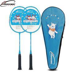 2 PCS Badminton Racket for Children 3-12 Year Old Kids Training Badminton Rackets Aluminum alloy Egg Frame with Bag #Affiliate