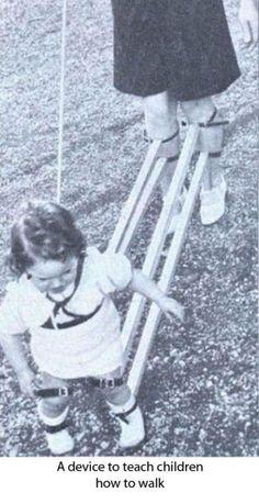 Inventos locos del pasado. Un dispositivo para enseñar a los niños a caminar. Run Forest, Run!