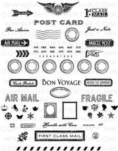 Postmarks Stamp Set  Price: $24.00