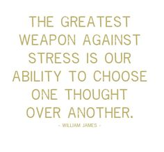 The greatest weapon against stress