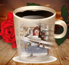animation gif et divers Merry Christmas Everyone, Christmas And New Year, All Things Christmas, Coffee Gif, Coffee Love, Hot Coffee, Good Morning Coffee, Good Morning Gif, Xmas Gif