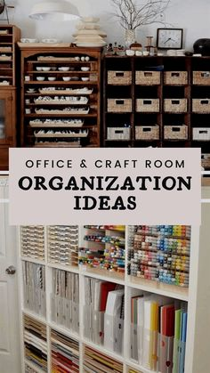 Home office and craft room organization ideas and storage tips to help your space stay clean and uncluttered for a more productive work space.