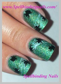 Spellbinding Nails: The Halloween Challenge + 'Influenced by a Scary Movie! '