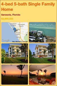 4-bed 5-bath Single Family Home in Sarasota, Florida ►$3,999,000 #PropertyForSale #RealEstate #Florida http://florida-magic.com/properties/7699-single-family-home-for-sale-in-sarasota-florida-with-4-bedroom-5-bathroom
