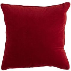 "Plush Pillow - Red - 20"" x 20"""