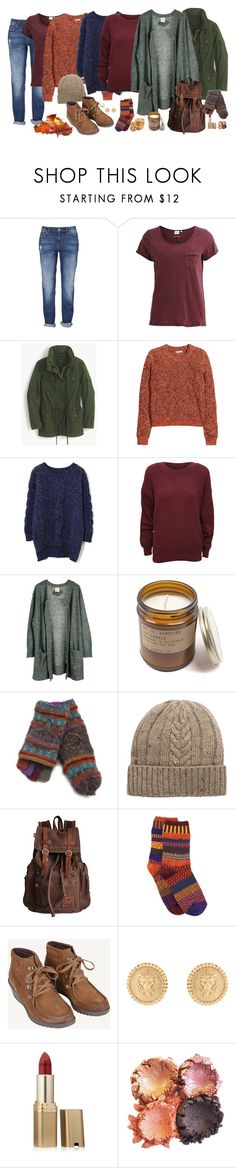 """""""Autumn with the Weasleys"""" by bomsgeorgina ❤ liked on Polyvore featuring Object Collectors Item, J.Crew, H&M, Chicwish, WearAll, Julie Fagerholt Heartmade, Lost Horizons, MANGO, Solmate Socks and Julie Vos"""