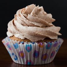 A cinnamon spiced cupcake topped with a cinnamon buttercream is the perfect Valentine's Day treat.
