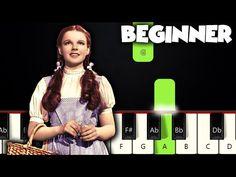 Over The Rainbow - Judy Garland | BEGINNER PIANO TUTORIAL + SHEET MUSIC by Betacustic - YouTube Piano Music, Sheet Music, Piano Lessons For Beginners, Piano Tutorial, Easy Piano, Judy Garland, Music Lessons, Over The Rainbow, Good Music