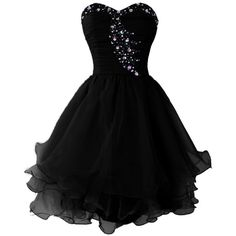 Dressystar Short Beaded Sweetheart Homecoming Party Princess Dress... ($45) ❤ liked on Polyvore featuring dresses, black, short beaded dress, night out dresses, beaded dress, laced up dress and holiday party dresses