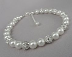 Bridesmaid Pearl Bracelet Personalized by alexandreasjewels