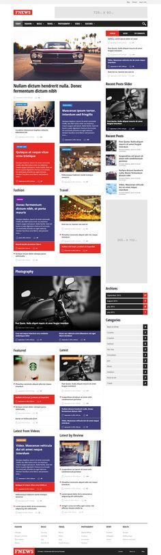 Fnews – Responsive WordPress News Theme #HTML5 #CSS3 #responsivedesign #businessthemes #wordpressthemes