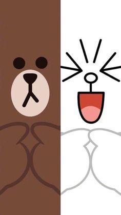 Lines Wallpaper, Bear Wallpaper, Aesthetic Iphone Wallpaper, Wallpaper Backgrounds, Cute Animal Drawings Kawaii, Cute Cartoon Drawings, Chibi Cat, Cute Anime Chibi, Cute Wallpapers For Ipad
