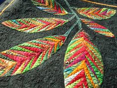 Tree/Leaf Quilt Design (beautiful quilting, using a 3D type on the leaves)