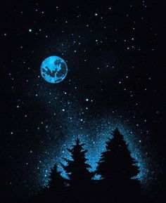 Glow in the Dark Stars. I know this is a poster, but the design would be cool to paint on a wall. Invisible during the day wall of stars at night!