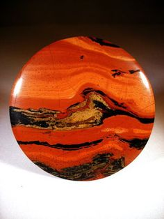 Koi Jasper, looks like Jupiter with its famous red spot! Minerals And Gemstones, Crystals Minerals, Rocks And Minerals, Stones And Crystals, Gem Stones, Cool Rocks, Beautiful Rocks, Agate Pierre, Spiritus