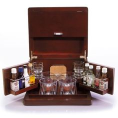 Brookstone® Mini Bar Portable Tabletop Bar & Accessories - BedBathandBeyond.com (Have bar will travel!)