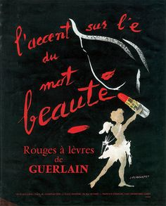 Guerlain vintage lipstick cosmetics ad