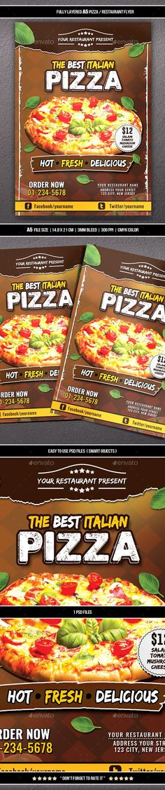 Pizza / Restaurant Flyer (A5) - Restaurant Flyers